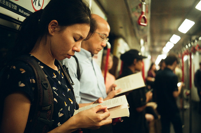 passengers on train by OTFO on Flickr