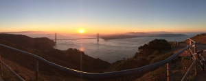 Sunrise from Hawk Hill
