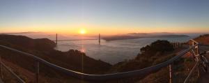 Sunrise from Hawk Hill